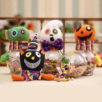 Halloween boîtes de rangement des aliments citrouille bonbonnes pot pour enfants fournitures de fête de noël cadeau transparent pot enfants sac de bonbons