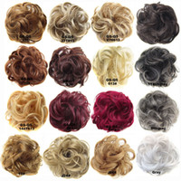 Fluffy Synthetic Hair Chignon Messy Hair Bun Curly Heat Resi...