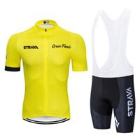 Amarillo strava Ciclismo camisetas del equipo Maglia ciclismo PANTALONCINI imposta 2020 establece un nuevo verano ropa de la bicicleta corta de gel