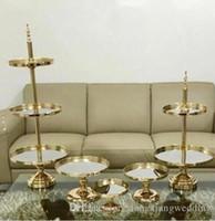 اثنين / ثلاثة الطبقة كعكة موقف مرآة الزفاف كعكة الجرف الحلوى علبة معدنية زفاف برج العرض