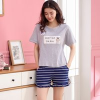 100% Cotton Pajamas Women Sleepwear Set Girl' s Home Clo...
