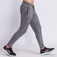 2018 Erkek Egzersiz Sweatpants Hızlı Kuru Nefes Pantolon Erkek Spor Tayt Koşucular Skinny Tozluklar Erkekler Spor Salonları Spor Fermuar