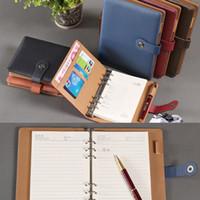 PU de couro da folha solta Notebook Organizer Business Planner Calendário diário de viagem notebook vintage planejador A5 A6