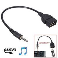 USB 2.0 타입 여성 OTG 컨버터 어댑터 케이블로 도매 3.5mm의 남성 오디오 AUX 잭