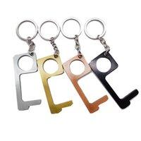 Presse Aufzug Werkzeug Höhenverstelltaste Contactless EDC-Tür-Öffner-Schlüssel-Werkzeug Touch Screen Knopf Closer Werkzeugöffnung Schleifenhaken EEA1572