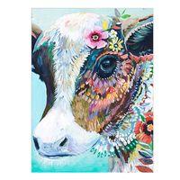 Diy vaca diamante pintura impermeável à prova de umidade 5 d diamante pintura arte da parede kits de pintura mão decoração de casa não rugas