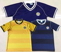 الرجعية اسكتلندا تي شيرت 1982 1986 كرة القدم الفانيلة الاسكتلندية الرئيسية الرجعية لكرة القدم قميص