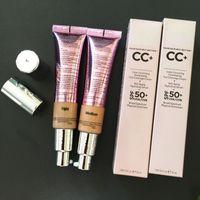 Maquiagem CC Creme de iluminação que sua pele, mas melhor hidratante cartilha CC + Creme Brighten Concealer rosto completa cobertura média Luz 32 ml