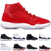 2018 Concords 45 Platinum Tint Good Leather 11 11s Gym Red M...