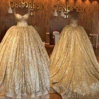 Спагетти ремни бальное платье арабский Дубай вечернее платье дешевые золотые блестки блестки роскошные кружева up обратно платье выпускного вечера