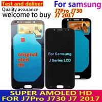 Samsung Galaxy J7 Pro 2017 için Orijinal Süper AMOLED LCD 2017 J730 J730F LCD Ekran ve Dokunmatik Ekran Digitizer Meclisi