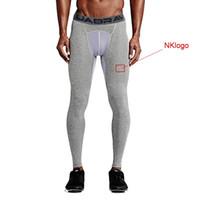 NUEVO 2019 Pantalones de ejercicio para hombres Deporte al aire libre Correr en seco Pantalones de renderizado comprimidos Fútbol Entrenamiento de baloncesto Deportes Medias GYM