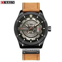 CURREN 8301 Top Brand Luxury Watch Men Date Display Leather ...