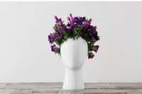 Home decor man head flower vase creative flower pots planter...