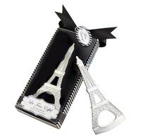 소매 패키지 상자 SN240 로맨틱 웨딩 기념품 에펠 탑 (Eiffel Tower) 병 뚜껑 오프너 참신 웨딩 파티 호의 선물