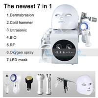 7 في 1 هيدرا معدات تجميل الوجه هيدرو جلدي بالموجات فوق الصوتية حقن المغذيات الأكسجين رذاذ HYDRAFACIAL آلة