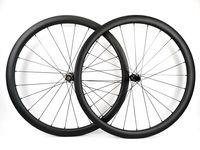 Tam karbon fiber jantlar 700C 38mm derinlik 25mm genişlik Kattığı / Tübüler Yol disk fren bisiklet tekerlek UD mat bitirmek