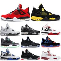 4 OG Mens Basketball Shoes 4s Thunder Columbia Black Gold Ro...