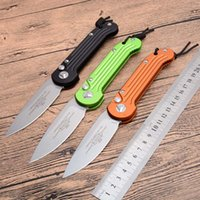 Chegada de novo! Micro-tech automática Karambit faca Falcão Auto faca Proof 6061-T6 de alumínio punho facas táticas Run MIC 166 stonewash LÂMINA