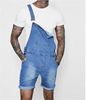 Vintage Demin Tenues été barboteuses vêtements pour hommes Mode Hommes Luxe Designer Court Jeans Solide Couleur de poche