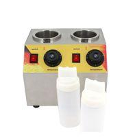 BEIJAMEI Ticari Çikolata soya sosu dolum makinası elektrikli reçel ısıtıcı 220V / 110v ısıtma sıcak şişe yayıldı