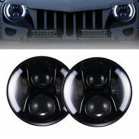 2pcs para Lada Niva 4x4 urbana Jeep Wrangler Hummer Land Rover Defender 7 pulgadas Ronda Daymaker LED DRL Faro 60W