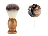 Новое здоровье мужская щетка для бритья салон мужчины лица борода очистки прибора бритья инструмент бритва щетка с деревянной ручкой для мужчин