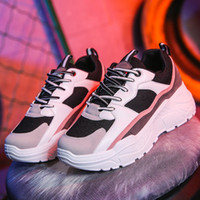Chaussures Femme Chunky Sneakers Femmes vulcaniser Chaussures Plate-forme Sneakers Casual Sneaker Femme Femme panier Dad Chaussures Tenis Feminino MX200425
