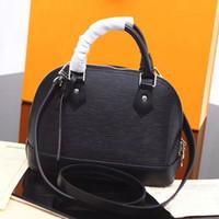 Designer-femmes sacs à main sacs en cuir véritable de haute qualité 5 petite main brevet d'ondulation de l'eau couleur Sac à bandoulière ALMA PM shell sac fourre-tout de l'air
