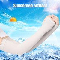 1pair Sun manches bras Protection Sport manches Protection UV soleil anti-dérapant crème solaire soie glace manchette protection solaire à vélo