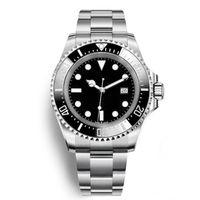 Reloj para hombre Bisel de cerámica profundo Dweller de mar 126660 44 mm Stenless Steel Glide Lock Bloquear cierre relojes de pulsera mecánica automática Chrono Reloj