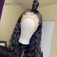 Transparent Lace Wigs Full Lace Human Hair Wig Curly Wig 130...