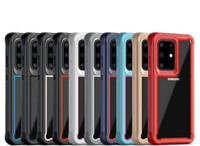 Para o Caso híbrido Samsung Galaxy S20 transparente acrílica Phone Case para Samsung S10 S10E Nota 10 A20E A10E A50S A30S S20 Além disso S20 Ultra Clear