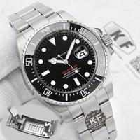 Glide Kilit Su Geçirmez Lüks Tasarımcı Mens 126603 43mm Kırmızı Deniz-Dweller Erkekler Mekanik Otomatik Saatler Hareketi Saatı Altın İzle