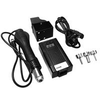 العرض محطة المحمولة LED إعادة العمل لحام الهواء الساخن المنفاخ 110V الولايات المتحدة التوصيل / 220V الاتحاد الأوروبي التوصيل LED الرقمية بندقية الحرارة 8858