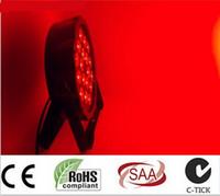 LED 파 표시 등 RGBW 4IN1 슬림형 파 라이트 빔 40도 AC110V-240V DMX 512 8 채널 Par Cans