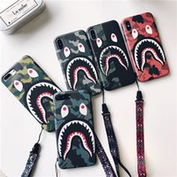 For iPhone X Phone Case Fashion Camouflage Mouth Pattern Mat...