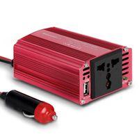 США STOCK UPS SHIPPING 300W автомобиля Инвертор 12В постоянного тока до 110В переменного тока преобразователь с 2.4A Dual USB Автомобильное зарядное устройство