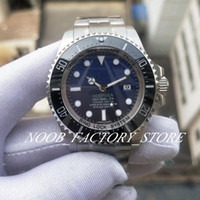 Lujo BP Factory D-Black Blue Dial Brazalete de acero inoxidable ETA 2836 Movimiento automático Vidrio de zafiro 44mm Natación de buceo Reloj