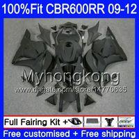 Injektion för Honda CBR 600RR 600F5 CBR600RR 09 10 11 12 282HM.16 CBR 600 RR F5 CBR600 RR Matte Black Hot 2009 2010 2011 2012 Fairings Kit