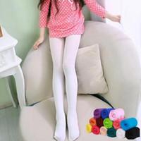 Mädchen Leggings Kinder Süßigkeit-Farben-Samt-elastisches Baby Legging Ballett-Leistung Tanzen Strümpfe Enge Hose Mädchen Pure Color Hose