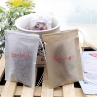 Pulpa de madera filtro de papel desechable Té bolsas de cordón vacío perfumadas bolsitas de té de Heal junta del filtro de papel para la hierba de té flojo