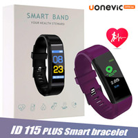 ID115 Plus Color Screen-intelligente Armband Fitness Tracker smartband Herzfrequenz-Blutdruck-Monitor Smart-Armband