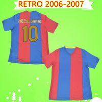 barca Barcelona barca jersey # 10 Ronaldinho 2006 2007 Maillot football rétro domicile football vintage classique chemise # 19 MESSI Xavi Deco de Camiseta futbol 06 07 Gudjohnsen