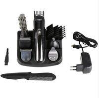 Kemei 100-240 В kemei 5 в 1 электробритва триммер для волос Титановая машинка для стрижки бороды бритва мужчины инструменты для укладки бритвенный станок для Барба