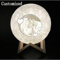 Özel LED Masa Işıkları Ay Gece Işık Basit Kapalı Aydınlatma Oturma Çalışma Lambası Özel Lambalar Yaratıcılık Düğün Doğum Günü Hediyesi Özelleştir