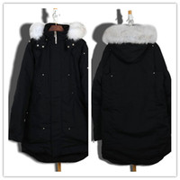 Classic Men' s Long Stirling Parka black Parkas with Hoo...