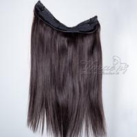 Cheveux brésiliens Flip Straight In de couleurs de cheveux 12inch à 30inch 1pcs Set 120g 140g 160g Halo non-remy Lady Human Hair Extensions