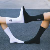 20190414 Baumwolle personalisierte Kalbsocken Paar Stil Gestickte Cartoon kreative Socken
