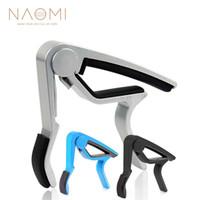 NAOMI Guitare Capo 3 couleurs Guitare à changement rapide Déclencheur à pince Capo Folk Argent Bleu Noir Couleur Guitare Accessoires